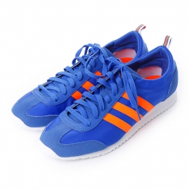 ADIDAS NEO VS JOG SHOES  N/A Color Blue/Solar Orange/White (AQ1354)