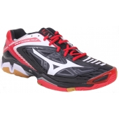 Buty do Squasha Mizuno Wave Stealth 3 - black/white/chinese red X1GA140001