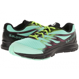 Salomon 2015 Women's Sense Link Running Shoe   373278   Lucite Green/Black/Granny Green