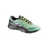 Salomon 2015 Women's Sense Link Running Shoe   373278   Lucite Green/Black/Granny Green